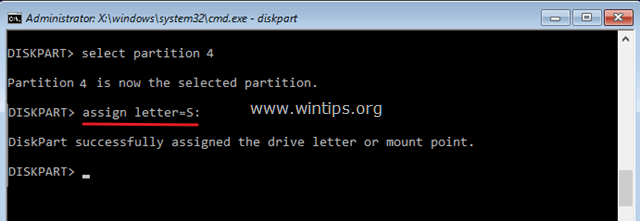 assign letter command