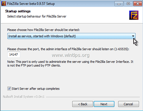 setup ftp server