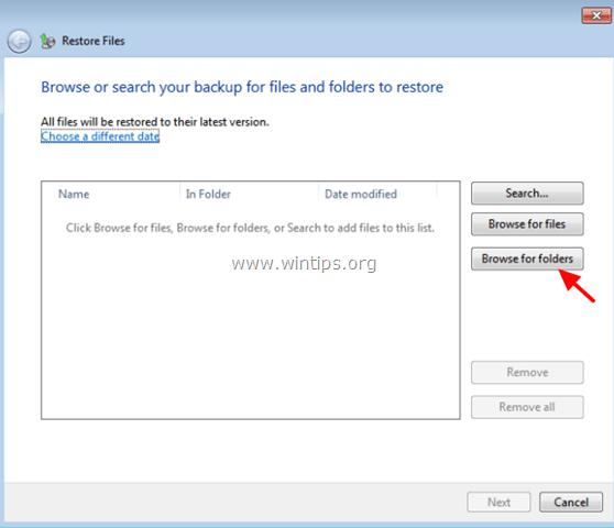 restore folder