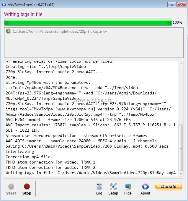 Convert MKV to MP4 Video with MkvToMp4 Converter (Free
