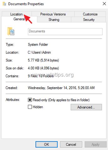 change documents location