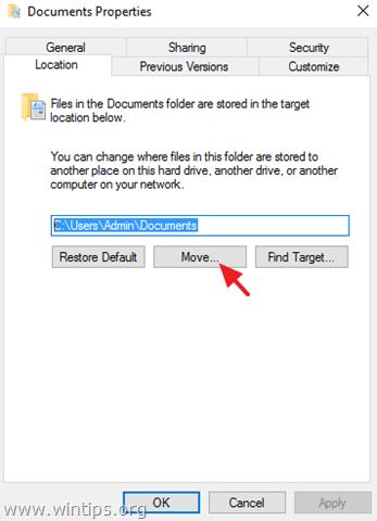 move documents location