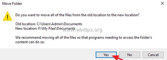 default personal files location