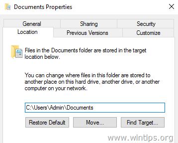 change default location