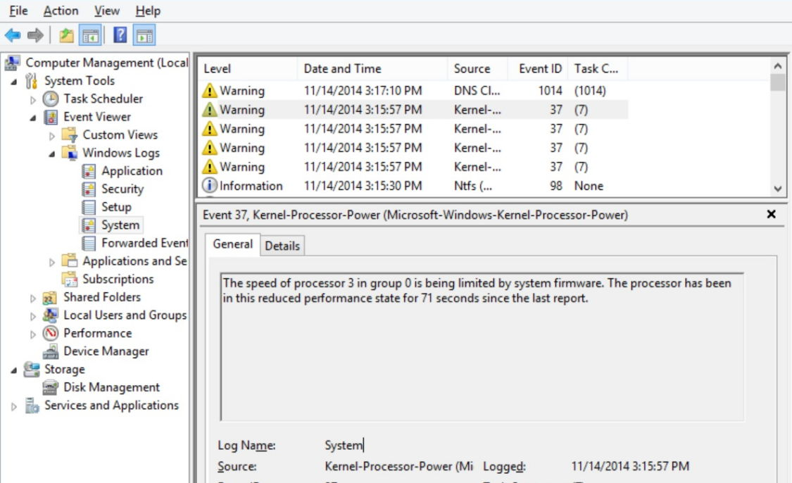 Fix Speed Of Processor in Group is being limited by System