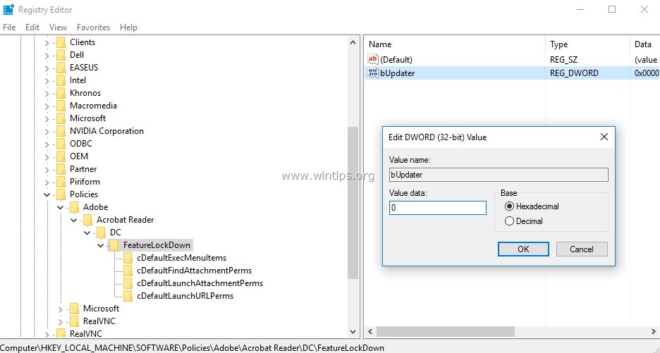 How to Disable Automatic Update in Adobe Reader DC - wintips