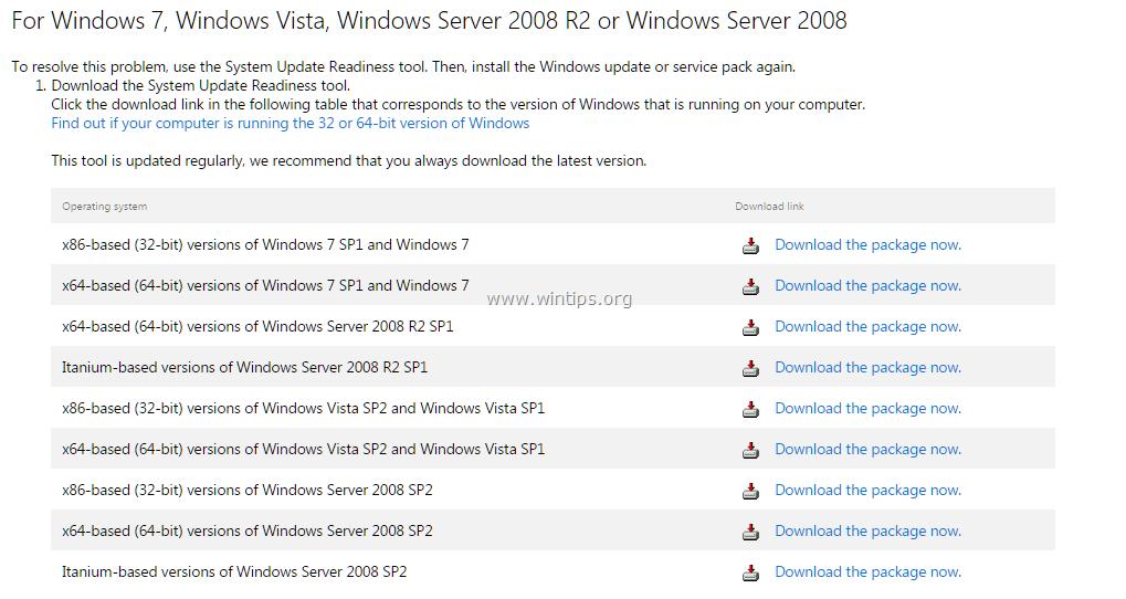 Fix: Windows Features List Blank or Empty on Windows 7