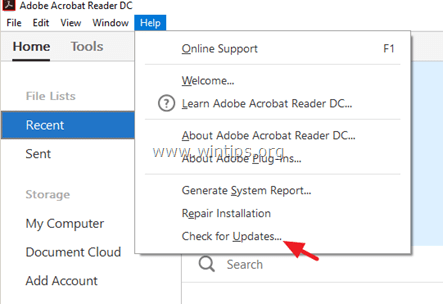 disable Adobe Acrobat Update Service