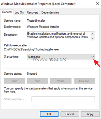 windows features not displayed - fix