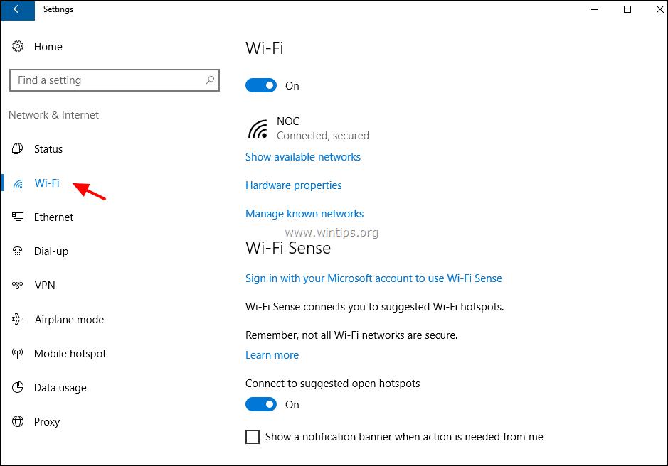 how to setup a network on windows 10