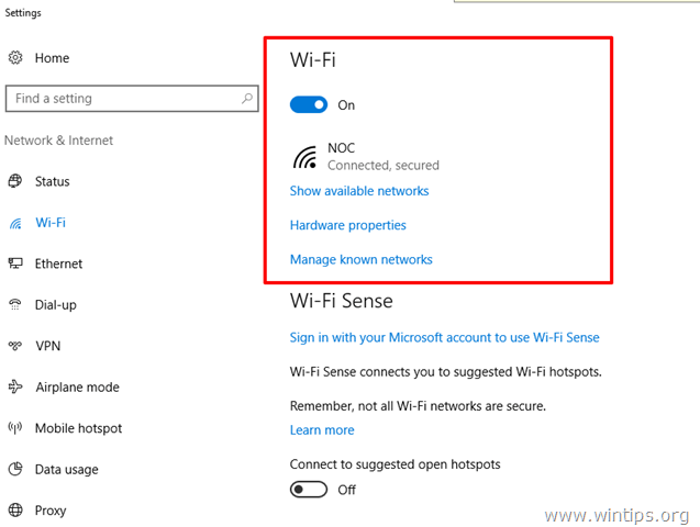 show avalaible wireless networks windows 10