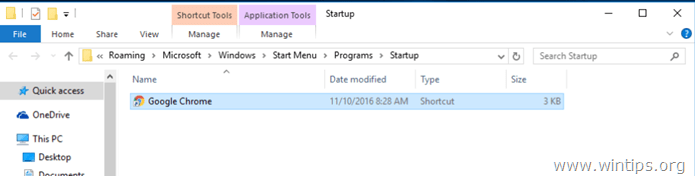 add a program at windows 10 startup.