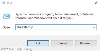 Add Program at Windows 10 Startup.