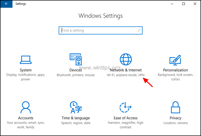 network and internet windows 10