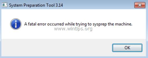 Sysprep msdtcprx.dll fatal error fix