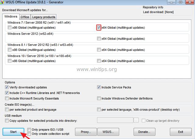 WSUS Windows Offline Update