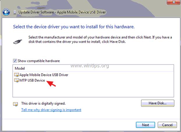 iPhone Not Recognized windows 7