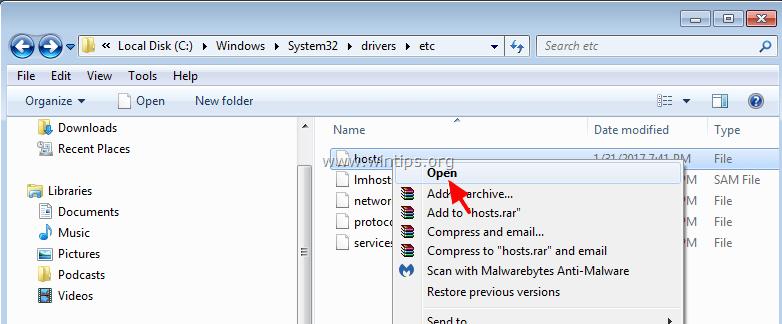 Windows system32 drivers etc hosts порно