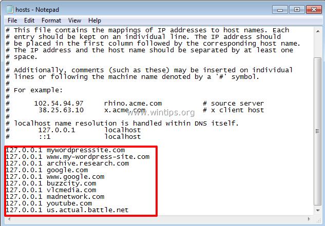 hosts file compromised