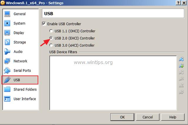 usb 2 support virtualbox