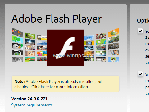How to Disable Chrome Flash Player Plugin - wintips org - Windows
