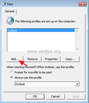Create Outlook Profile