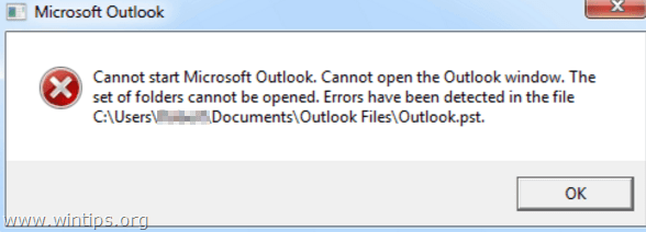Cannot start Microsoft Outlook. Cannot open Outlook window.