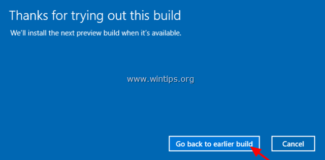 earlier build windows 10