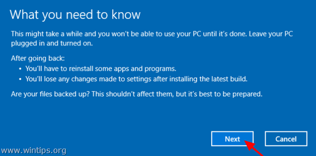 uninstall latest build windows 10