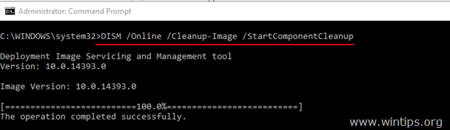 DISM /Online /Cleanup-Image /StartComponentCleanup