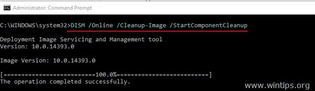 DISM /Online /Cleanup-Image /StartComponentCleanup