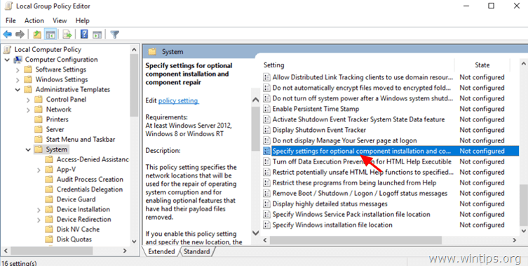 dism source group policy
