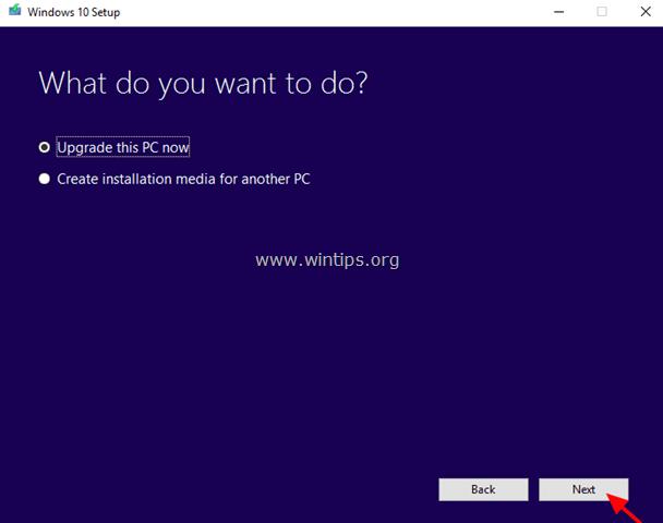 Upgrade this PC now Windows 10