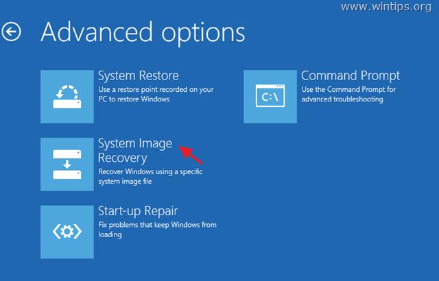 Restore System Image Backup