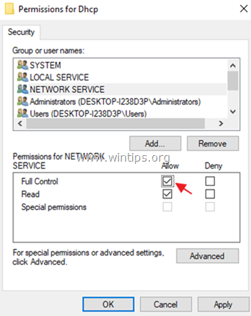 DHCP Access Denied error 5