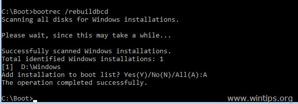 sửa chữa khởi động cấu hình dữ liệu windows 7 hoặc vista