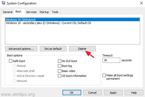 fix cannot boot secondary plex