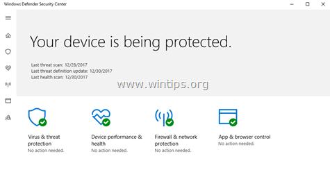 Disable Defender Security Antivirus