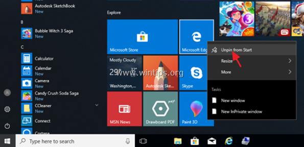 disable edge windows 10