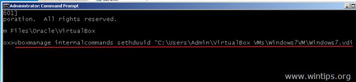 reset uuid virtual disk