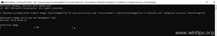 Convert Install.WIM to Install.ESD