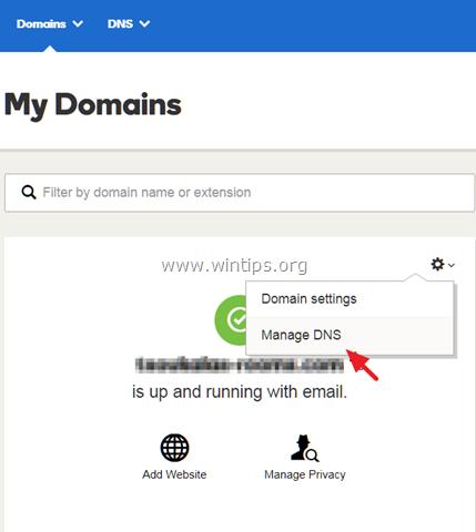 modify dns google apps domain