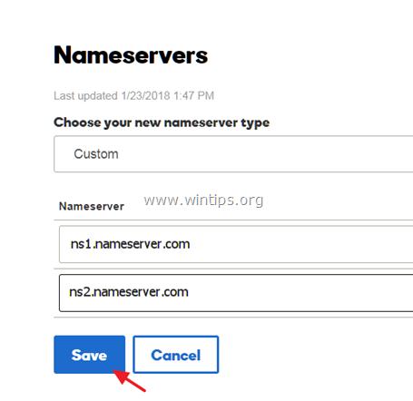 change nameservers google apps domain website