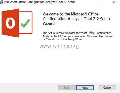 Office Configuration Analyzer Tool.
