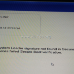 FIX: Dell Laptop – Operating System Loader signature not found/invalid. (Solved)
