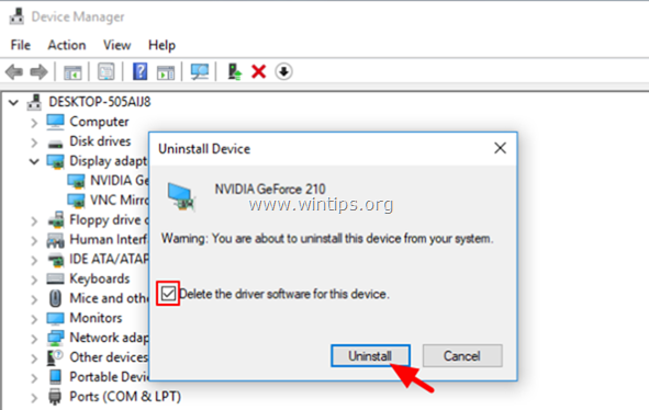 delete device software