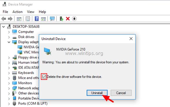 delete device software