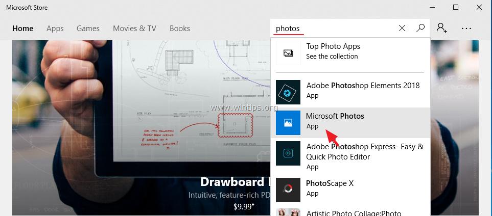 FIX: Windows 10 Photos App didn't start  - wintips org
