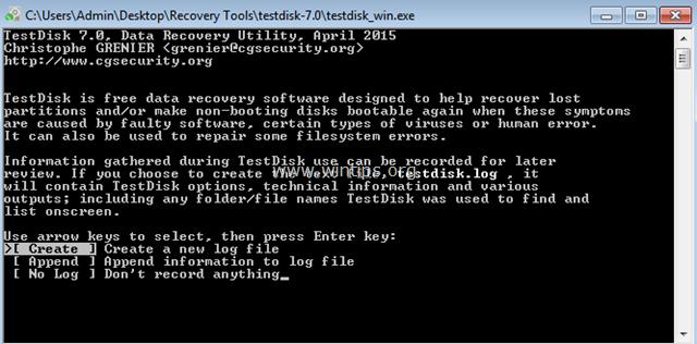 recover corrupted word file - testdisk