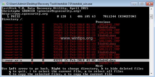 testdisk file recovery